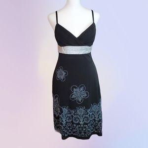 Trixxi Black Dress with Beading, Glitter, & Bow